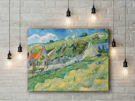 Vincent van Gogh: Cottages. Fine Art Canvas.